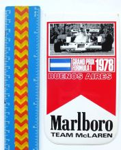 MARLBORO Buenois Aires (Argentine GP) 1978  sticker  unused